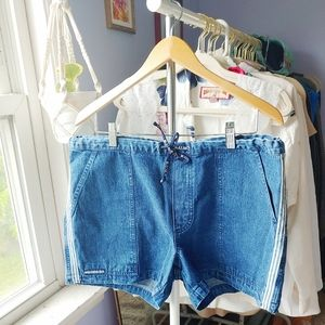 Vintage B.U.M. Equipment Drawstring Jean Shorts